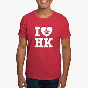 I Love HK Dark T-Shirt