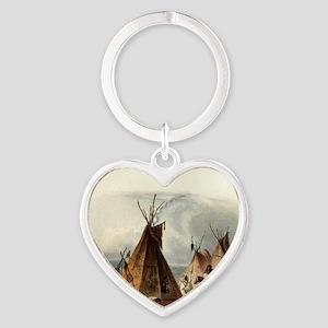 Assiniboin teepee Native Skin Lodge Keychains