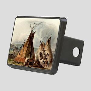 Assiniboin teepee Native S Rectangular Hitch Cover