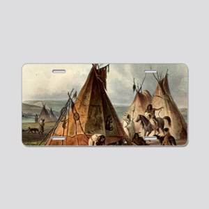 Assiniboin teepee Native Sk Aluminum License Plate