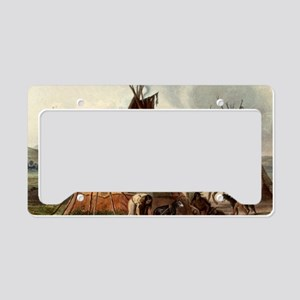 Assiniboin teepee Native Skin License Plate Holder