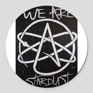 We Are Stardust Round Car Magnet