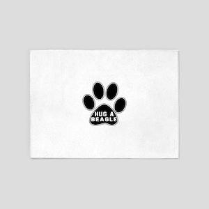 Hug A Beagle Dog 5'x7'Area Rug