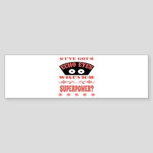 Echo Eyes Superpower Coral Sticker (Bumper)