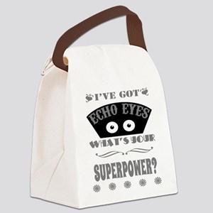 Echo Eyes Superpower Gray Canvas Lunch Bag