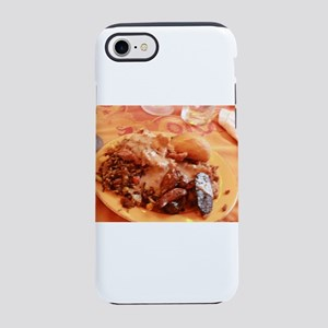 Thanksgiving dinner plate wi iPhone 8/7 Tough Case