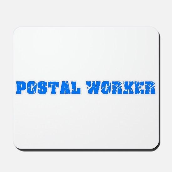 Postal Worker Blue Bold Design Mousepad