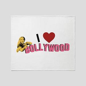 I Love Bollywood Throw Blanket