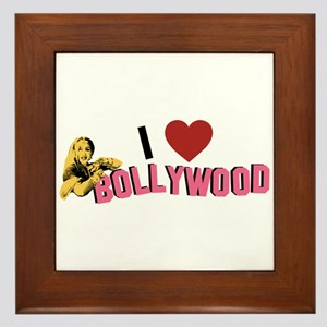 I Love Bollywood Framed Tile