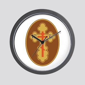 Eastern Orthodox Cross Wall Clock