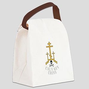 Calvary Cross Canvas Lunch Bag