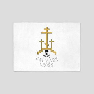 Calvary Cross 5'x7'Area Rug