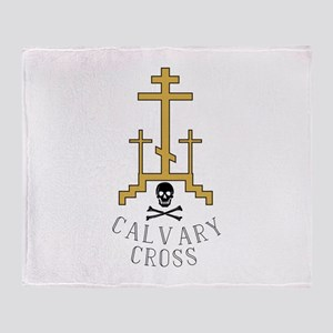 Calvary Cross Throw Blanket