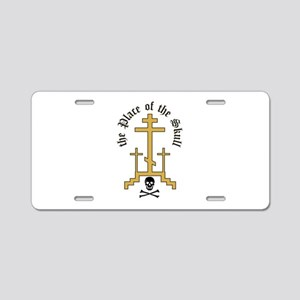 Place Of Skull Aluminum License Plate