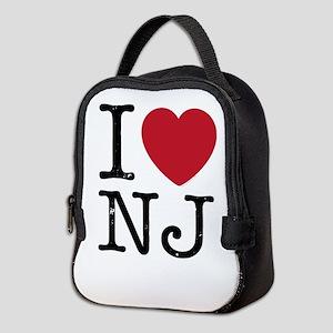 I Love NJ New Jersey Neoprene Lunch Bag