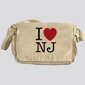 I Love NJ New Jersey Messenger Bag