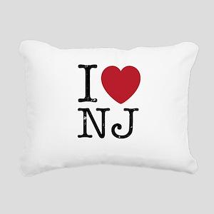I Love NJ New Jersey Rectangular Canvas Pillow