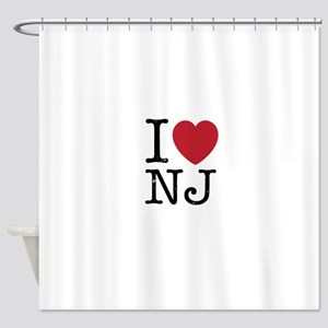 I Love NJ New Jersey Shower Curtain