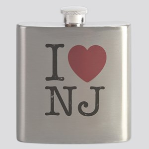 I Love NJ New Jersey Flask