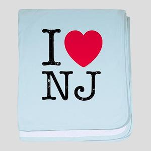 I Love NJ New Jersey baby blanket