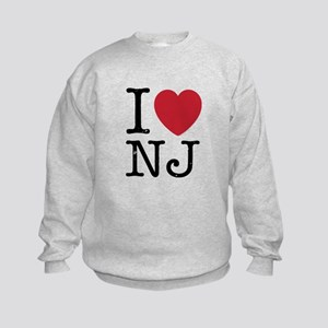 I Love NJ New Jersey Kids Sweatshirt