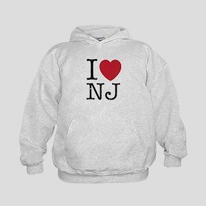 I Love NJ New Jersey Kids Hoodie