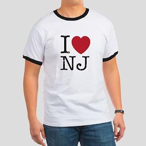 I Love NJ New Jersey Ringer T