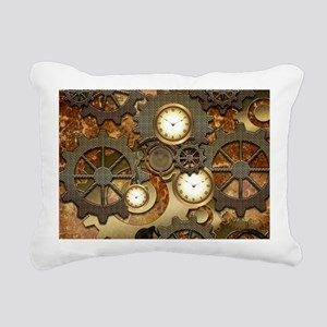 Steampunk, clocks and gears Rectangular Canvas Pil