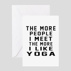 I Like More Yoga Greeting Card