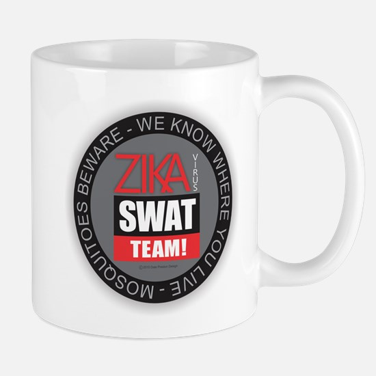 Zika Virus Swat Mugs