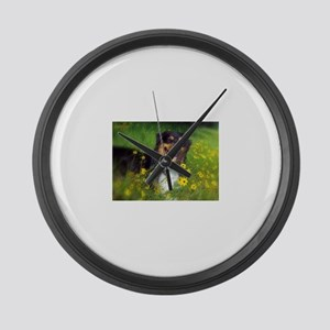 SURF Australian Shepherd Large Wall Clock