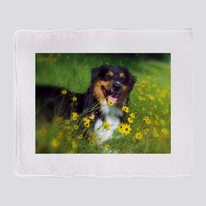 SURF Australian Shepherd Throw Blanket