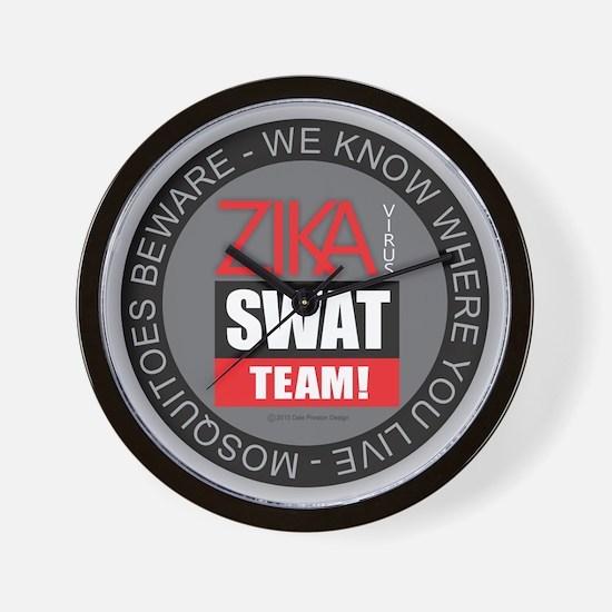 Zika Virus Swat Wall Clock