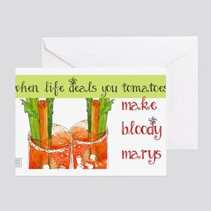 When Life Deals You Tomatoes Greeting Cards