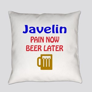 Javelin throw Pain now Beer later Everyday Pillow