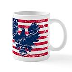 Eagle on USA Flag Mugs
