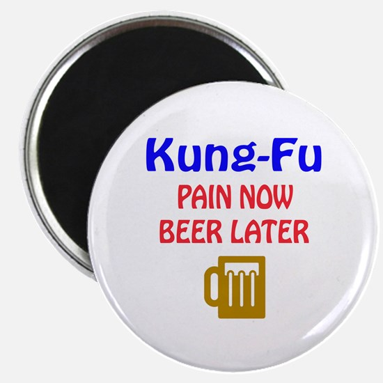 """Kung Fu Pain now Beer later 2.25"""" Magnet (10 pack)"""