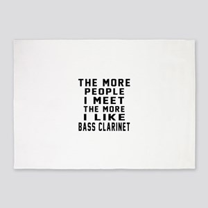 I Like More Bass Clarinet 5'x7'Area Rug