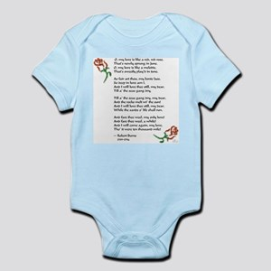 Love is Like a Red Rose Infant Bodysuit