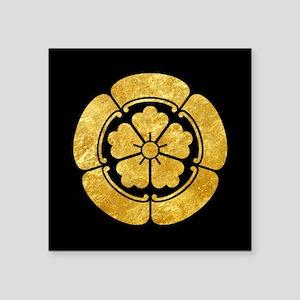 Oda Mon Japanese samurai clan gold on black Sticke