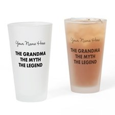 Custom Grandma Myth Legend Drinking Glass