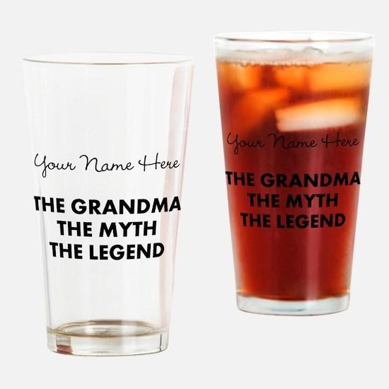 Custom Grandma Myth Legend Drinking Glass