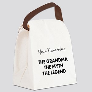 Custom Grandma Myth Legend Canvas Lunch Bag