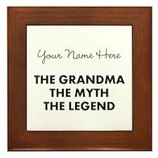 Custom Grandma Myth Legend Framed Tile