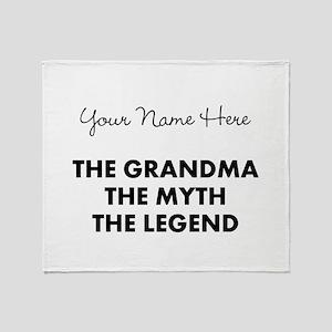 Custom Grandma Myth Legend Throw Blanket