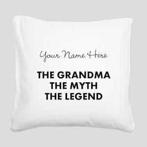 Custom Grandma Myth Legend Square Canvas Pillow