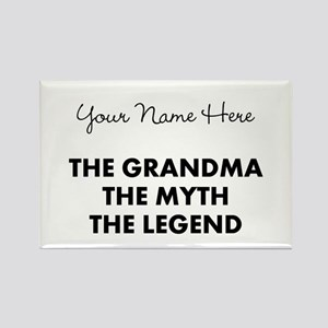 Custom Grandma Myth Legend Rectangle Magnet