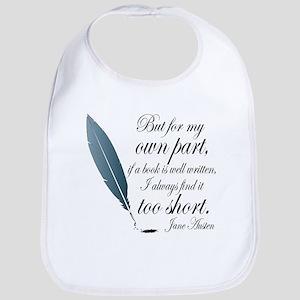 Jane Austen Book Quote Baby Bib
