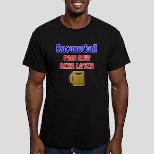 Racquetball Pain now B Men's Fitted T-Shirt (dark)