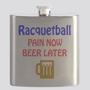 Racquetball Pain now Beer later Flask